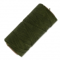 Linhasita wax thread bobbin for micro macramé 1 mm Olive Green x180m