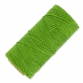 Linhasita wax thread bobbin for micro macramé 1 mm Grass Green x180m