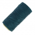 Linhasita wax thread bobbin for micro macramé 1 mm Teal x180m