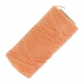 Linhasita wax thread bobbin for micro macramé 1 mm light Orange x180m