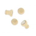 20 deco magnets 13 mm with natural wooden support