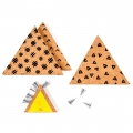 Kit with 3 triangles memento design I SPY DIY cork