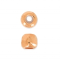 Metal stopper bead 5 mm with 2 mm hole rose gold tone x1