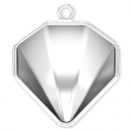 Pendent Setting for Swarovski cabochon 4928 Tilted Chaton 12 mm rhodium tone