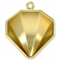 Pendent Setting for Swarovski cabochon 4928 Tilted Chaton 12 mm gold tone