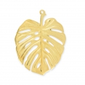 metall pendant philodendron leaf 50 mm gold x1