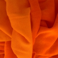 Velvet Jersey fabric coupon Frou-Frou 150x60 cm Flamboyant Orange