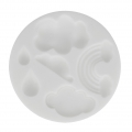 Mini silicone mold for polymer clay cloud