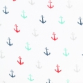 Double gaze cotton Fabric Simple Simon & Co - Multicolour Anchorsx10cm