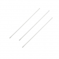 Stainless steel Silver Head pin 65x0.7x1.6mm x10