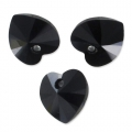 Swarovski 6228 Heart 18x17.5mm Jet x1