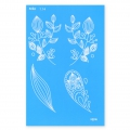 Silk Screen Moiko 74x105 mm - Flower design 1.14