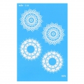 Silk Screen Moiko 74x105 mm - Mandala Design  2.04