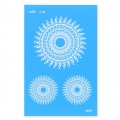 Silk Screen Moiko 74x105 mm - Mandala Design  2.06