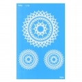Silk Screen Moiko 74x105 mm - Mandala Design  2.08