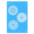 Silk Screen Moiko 74x105 mm - Mandala Design  2.15