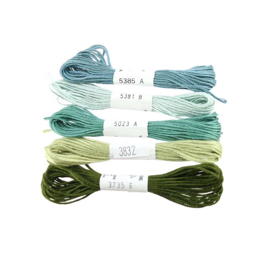 Embroidery thread Soie d'Alger Pale Green (5381) x5m