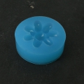 Silicone mold to make a resin or polymeric paste flower