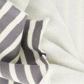 Thick Cotton Fabric molton Kiyohara - striped Marinière Grey/Cream x10cm