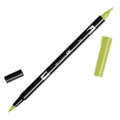 Tombow Dual Brush felt - Brush felts with a double tip Light Olive ABT-12
