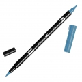 Tombow Dual Brush felt - Brush felts with a double tip Process Blue ABT-452