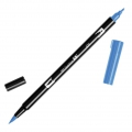 Tombow Dual Brush felt - Brush felts with a double tip Cyan ABT-476