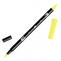 Tombow Dual Brush felt - Brush felts with a double tip Process Yelllow ABT-055