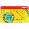 50 STABILO Point 88 felt pens fine tip 0.4 mm