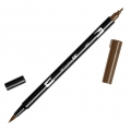 Tombow Dual Brush felt - Brush felts with a double tip Chocolate ABT-969