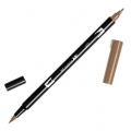 Tombow Dual Brush felt - Brush felts with a double tip Saddle Brown ABT-977