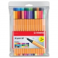 30 felt pens Point 88 STABILO fine tip 0.4 mm