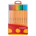 20 felt pens Point 88 STABILO fine tip 0.4 mm Colorparade