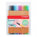 Etui de 15 stylos feutres Point 88 STABILO pointe fine 0.4 mm Pastel Collection