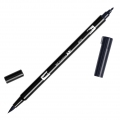 Tombow Dual Brush felt - Brush felts with a double tip Black ABT-N15