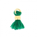 Cotton Pompon 7 mm Green/Gold tone HQ x1