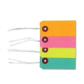 Assortment of labels with metal thread 5.5x3cm Multicolour x40