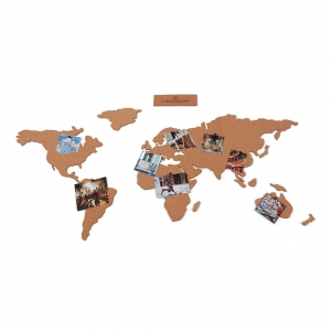Adhesive Cork World Map Luckies London 100x46 Cm The Corkboard Map