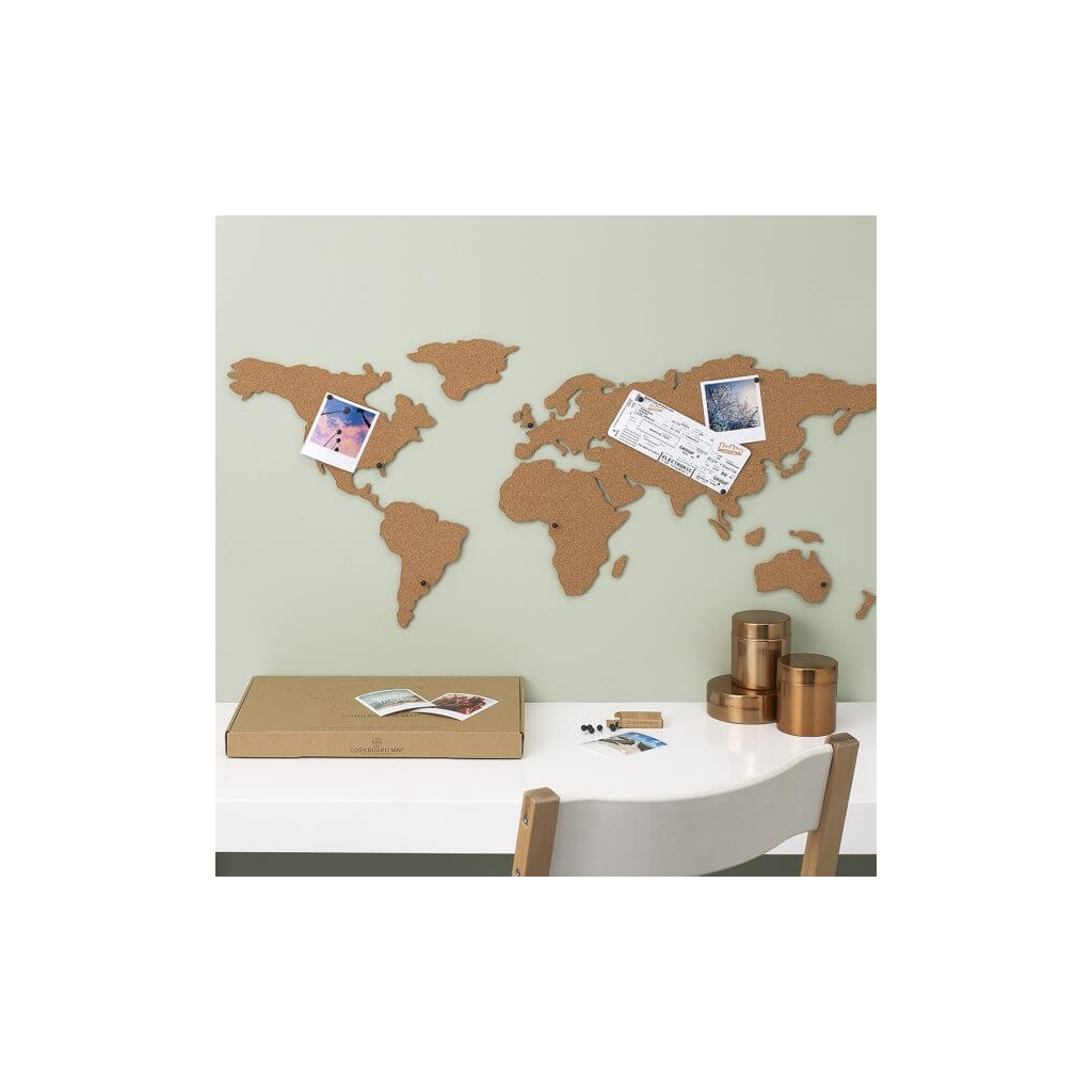 Adhesive cork world map luckies london 100x46 cm the corkboard map adhesive cork world map luckies london 100x46 cm the corkboard map gumiabroncs Image collections
