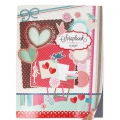 Scrapbooking notebook with 32 single colored sheets 29x38 cm for creative leisure