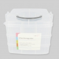 Storage Case for creative leisure 3 floors 16x16x13 cm 18 compartments