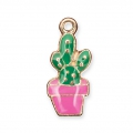 Metal and epoxy resin charm It's Magic Made by Me 15 mm Cactus
