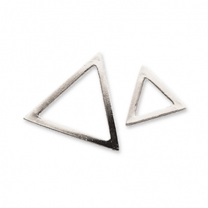 Metal spacers It's Magic Made by Me 15 et 9 mm Silver Tone Triangle x2