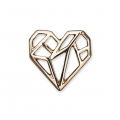 Metal spacer origami It's Magic Made by Me 16 mm Heart Gold Tone