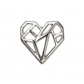 Metal spacer origami It's Magic Made by Me 16 mm Heart Silver Tone