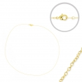Metal chocker for Miyuki Delicas 11/0 with oval mesh 0.8x1mm Gold Tone x 45 cm