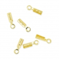 Mini lace clip 0.6mm Gold Tone x106