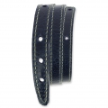 Leather bracelet base 2 turns 10 mm Navy Blue x 40 cm