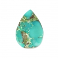 Pear shaped cabochon 14x10 mm Turquoise x1