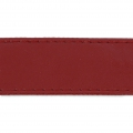 Imitation leather gallon with stitches 25mm Bordeaux x 50cm