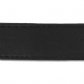 Imitation leather gallon with stitches 25mm Black x 50cm